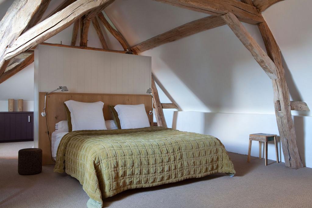 Hout Slaapkamer Meubels : Bed achterwand inhout