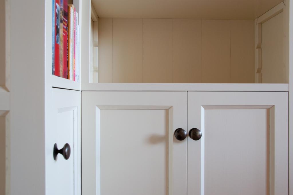 Slaapkamer Massief Hout : Kamer en suite boekenkast inhout